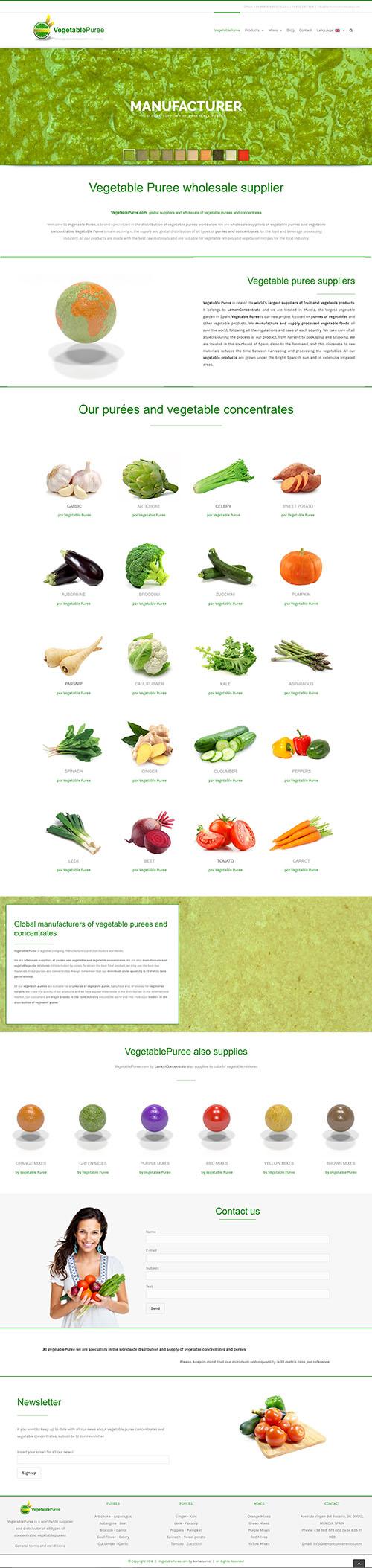 VegetablePuree - Desarrollo web a medida