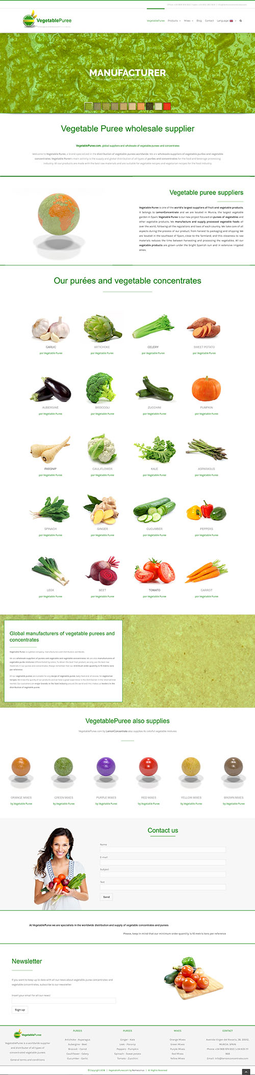VegetablePuree - Desarrollo web a medida