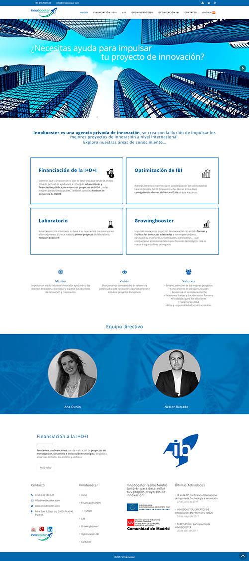 Innobooster.com - Rediseño web