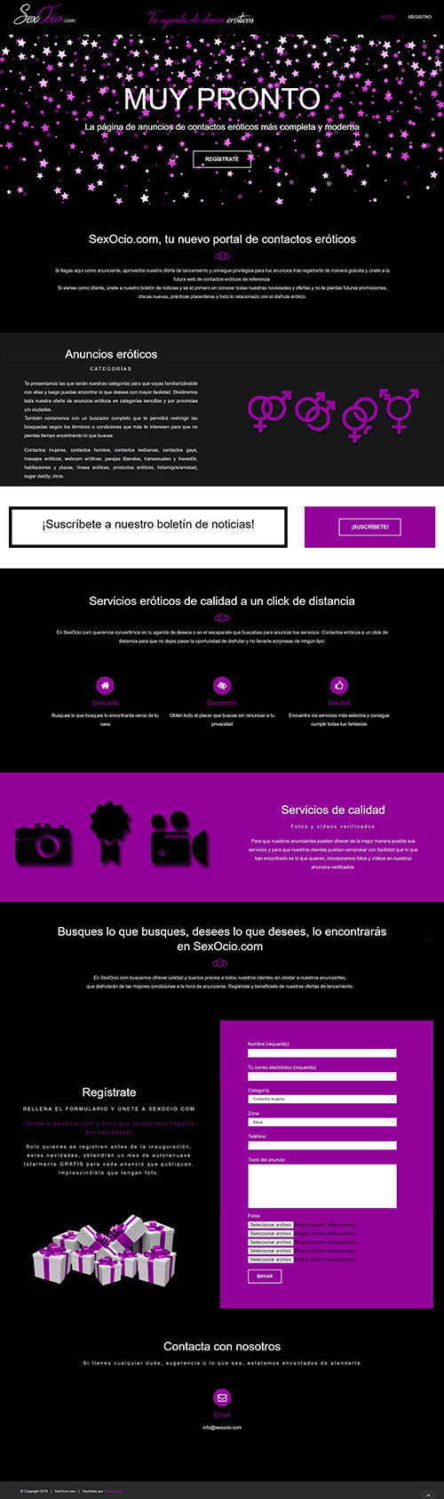 SexOcio.com - Diseño web a medida