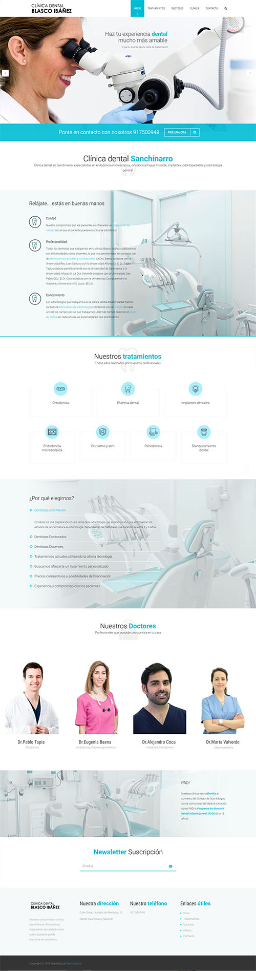ClinicaBlascoIbanez - Diseño web corporativo